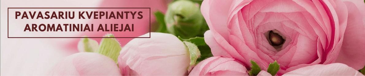 Pavasariu kvepiantys aromatiniai aliejai