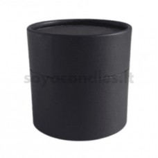 Kartono dėžutė su dangteliu, matinė juoda 76x76 mm