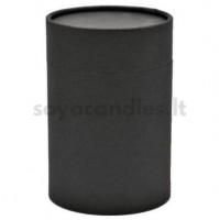 Kartono dėžutė su dangteliu, matinė juoda 83x112 mm