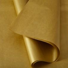Šilkinis metalizuotas popierius AUKSAS 50x75 cm, 25 lapai
