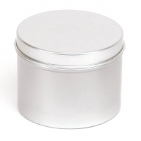 Apvalus aliuminio indelis su dangteliu 65x50 mm, 125 ml