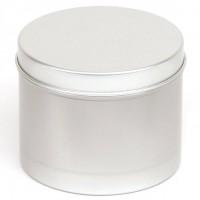 Apvalus aliuminio indelis su dangteliu, 225 ml