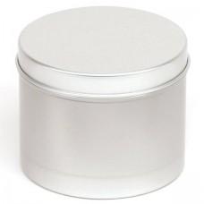 Apvalus aliuminio indelis su dangteliu 75x60 mm, 225 ml