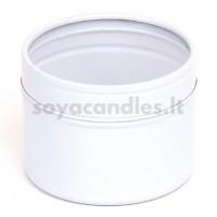 Baltas indelis su permatomu dangteliu 64x45 mm, 100 ml