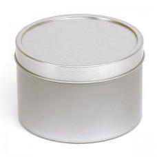 Sidabrinis vientisas indelis su dangteliu 95x62 mm, 400 ml