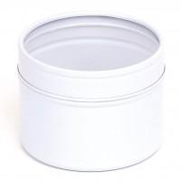 Baltas vientisas indelis su permatomu dangteliu, 100 ml