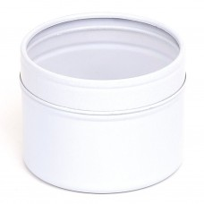 Baltas vientisas indelis su permatomu dangteliu 64x45 mm, 100 ml