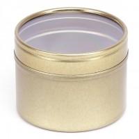 Auksinis vientisas indelis su permatomu dangteliu, 100 ml