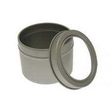 Mažas aliuminio indelis su permatomu dangteliu, 100 ml