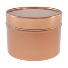 Rausvai auksinis vientisas indelis su dangteliu 64x45 mm, 100 ml