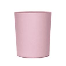 Platėjanti stiklinė matine rausva išore, 90 ml
