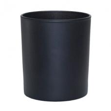 Stiklinė matine juoda išore, 300 ml