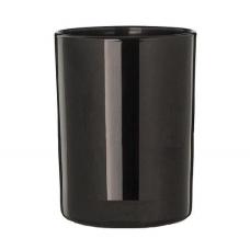Stiklinė lygia juoda išore, 300 ml