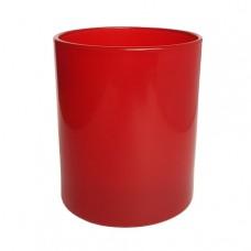 Stiklinė lygia raudona išore, 300 ml