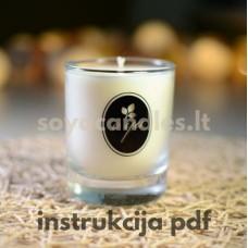 Žvakių induose gamybos instrukcija su GoldenWax 464 sojų vašku (pdf)