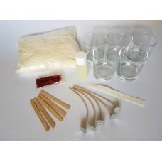 Mažas žvakių gamybos rinkinys pažengusiam (5 žvakės, 5 proc. kvapo)