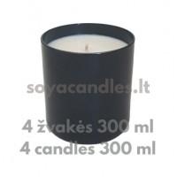 Žvakių gamybos rinkinys pradedančiam JUODASIS (4 žvakės, bekvapės)